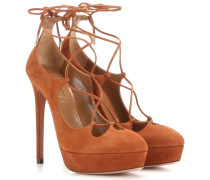 Plateau-Pumps Dancer 130 aus Veloursleder