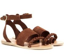 Sandalen Agni aus Veloursleder