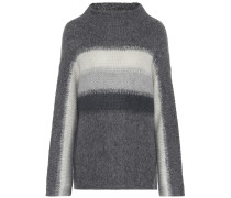 Gestreifter Pullover mit Wollanteil