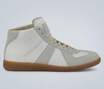 Zweifarbige hohe Sneakers