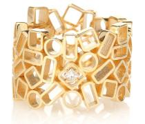 Ring Mosaic Eternity aus 18kt Gelbgold mit Diamant