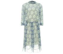 Bedrucktes Kleid aus Seidenchiffon