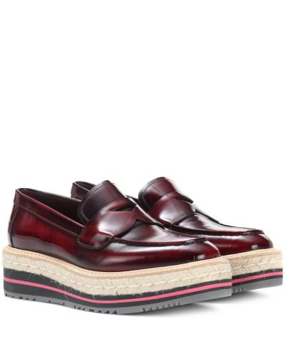 Prada Damen Plateau-Loafers aus Leder Abstand Rabatt Große Überraschung Zu Verkaufen Echt Verkauf Online 0EMtm3a2