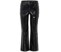 Hose Selena Crop Boot aus Lackleder
