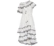 Gepunktetes Kleid Jaya aus Leinen