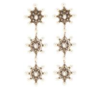 Ohrringe mit Perlen und Kristallen