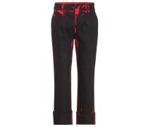 Verkürzte Jeans aus Strech-Baumwolle