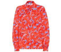 Bedruckte Bluse aus Baumwolle