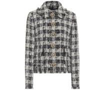 Jacke aus Metallic-Tweed