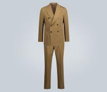 Anzug aus Baumwolle und Leinen