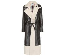 Mantel aus Leder und Canvas