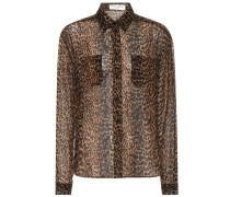 Bedruckte Bluse aus Schurwolle