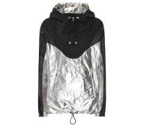 Sweatshirt mit Metallic-Einsatz