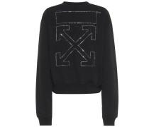 Sweatshirt mit Swarovski-Kristallen