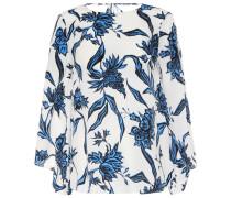 Bedruckte Bluse mit Seidenanteil