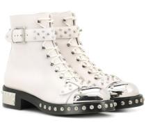 Alexander McQueen Verzierte Ankle Boots aus Leder