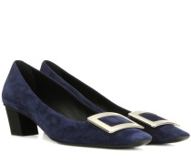 Pumps Belle Vivier aus Veloursleder