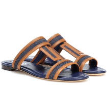 Sandalen aus Denim