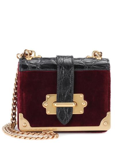 Micro Cahier Crossbody-Tasche aus Leder