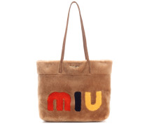 Shopper aus Shearling