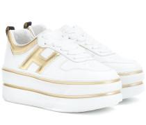 Plateau-Sneakers H449 aus Leder