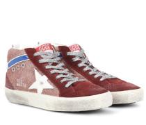 Sneakers Mid Star aus Veloursleder