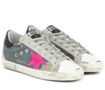 Sneakers Superstar mit Leder