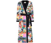 Bedruckter Kimono mit Wollanteil