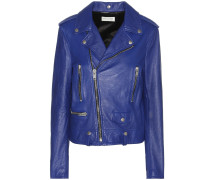 Bikerjacke aus Leder in Vintage-Optik