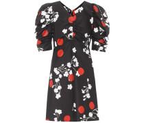 Bedrucktes Kleid Obliterated Blossom aus Baumwolle