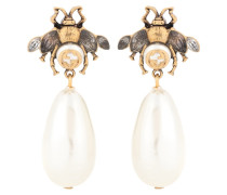 Ohrringe mit Kristallen und Perlen