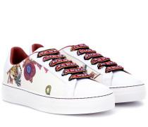 Bedruckte Sneakers aus Leder