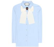 Verzierte Bluse aus Baumwollpopeline