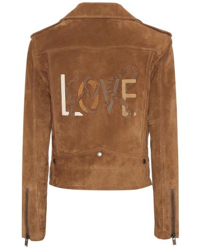 Verzierte Jacke aus Veloursleder