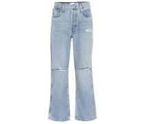 Low-Rise Boyfriend Jeans Low Slung Crop