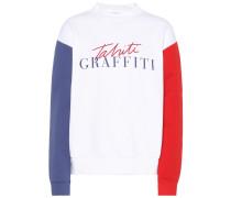 Sweatshirt Tahiti mit Print aus Baumwolle