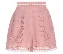 High-Rise Shorts aus Baumwoll-Voile