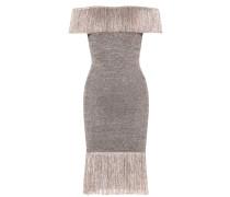 Off-Shoulder-Kleid mit Fransen