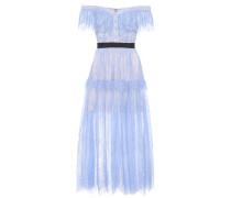 Off-Shoulder-Kleid aus Spitze