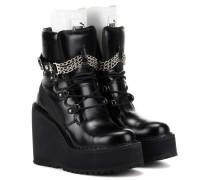 Verzierte Ankle Boots Rihanna aus Leder