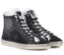 Sneakers Soho aus Veloursleder