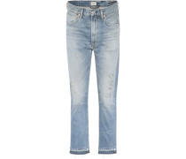 High-Rise Cropped Jeans Dree