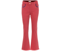 Flared Jeans aus Stretch-Baumwolle