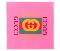 Bedruckter Logo-Schal mit Seidenanteil