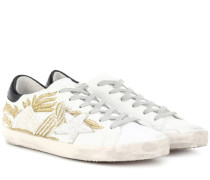 Verzierte Sneakers Superstar aus Leder