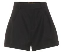 Hochsitzende Shorts aus Wolle