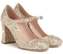 Mary-Jane-Pumps mit Glitter