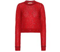 Verzierter Pullover mit Mohairanteil
