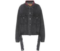 Jeansjacke mit Stickerei aus Baumwolle