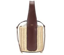 Bucket-Bag Aisha aus Stroh und Leder